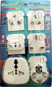 Ast P5 White All In One Adapter Kit In Blister Case Europlugs