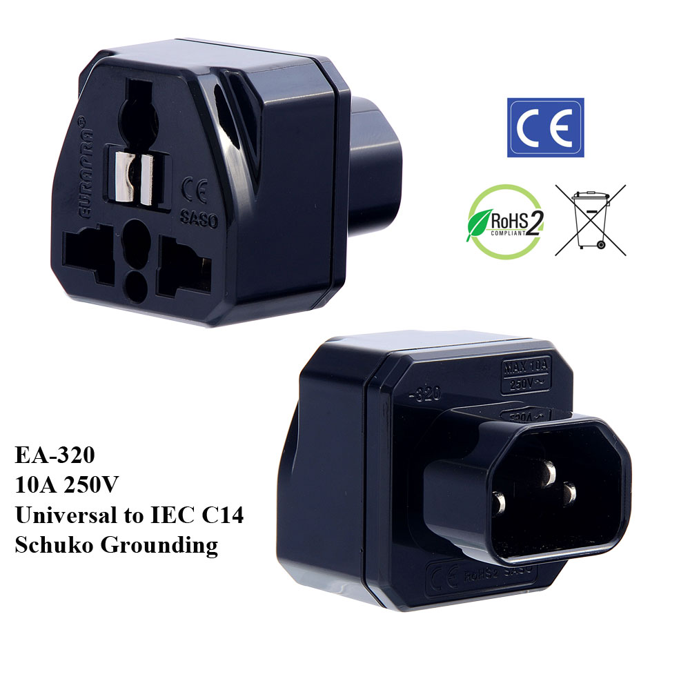 wiring a c14 plug my wiring diagram ea 320 black iec c14 plug adapter schuko ground europlugs wiring a c14 plug