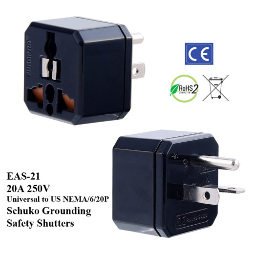 EAS Plug Adapter White