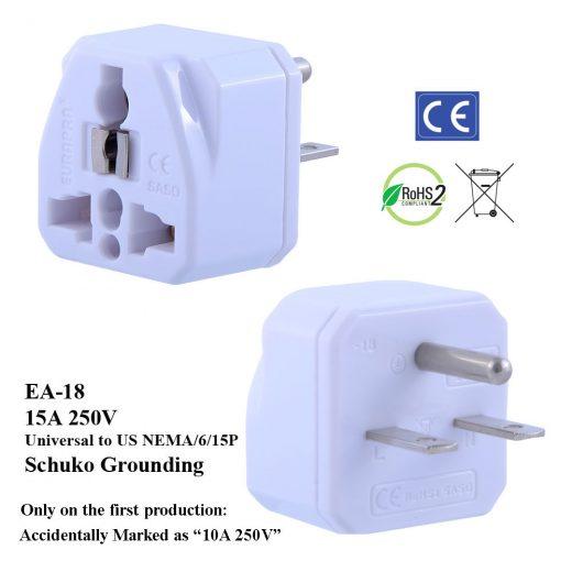 EA Plug Adapter White - EuroPlugs